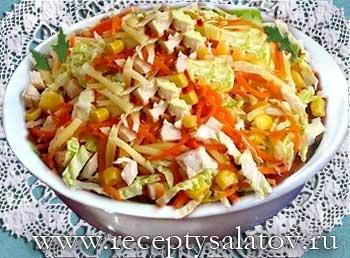 салат с сыром фетой